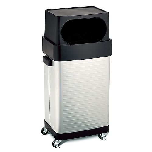 Ultrahd Rolling Fingerprint Resistant Stainless Steel Trash Can, 17 Gal.