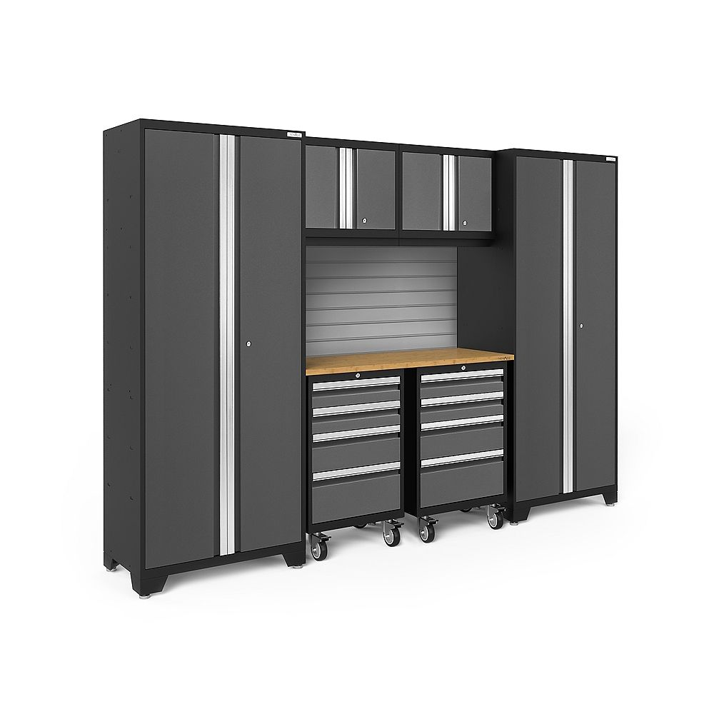 NewAge Products Bold Series Grey 7 Piece Cabinet Set