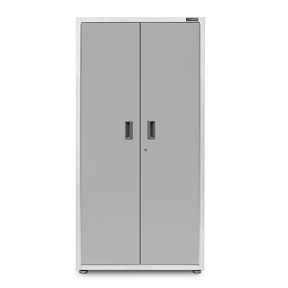 Gladiator Ready-to-Assemble 72-inch H x 36-inch W x 18-inch  D Steel Freestanding Garage Cabinet in White