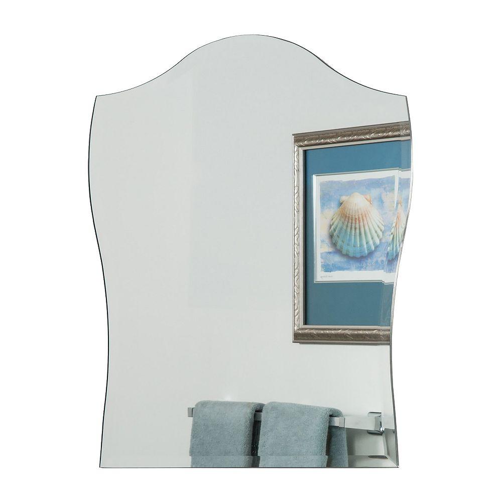 Decor Wonderland 32-inch  x 24-inch Arched Rectangle Alta Modern Bathroom Mirror with beveled Edge