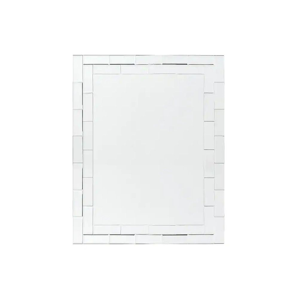 Decor Wonderland 32-inch  x 24-inch Rectangle Grand St. Bathroom Mirror with beveled Edge and Dual Mounting Brackets