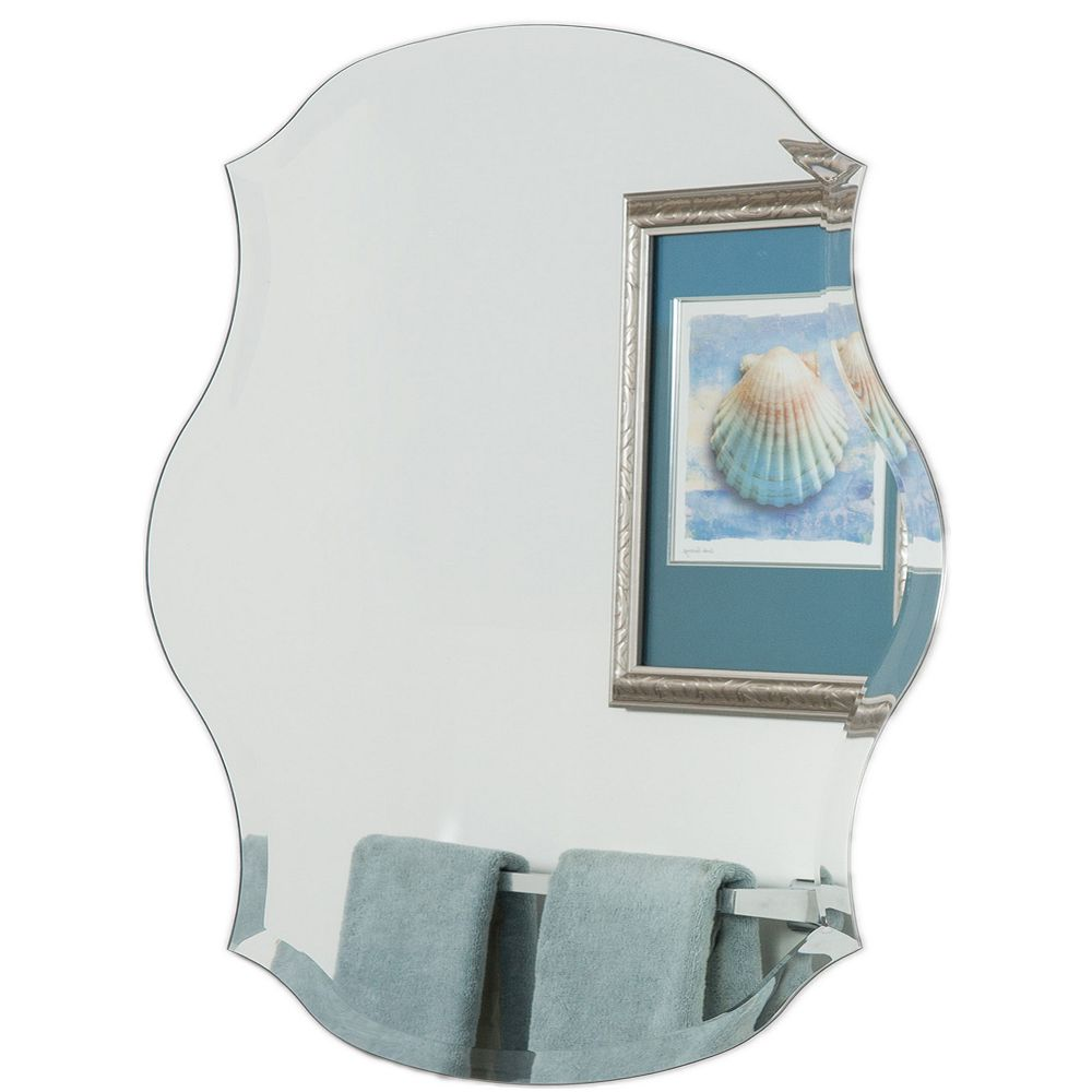 Decor Wonderland 31-inch  x 23-inch Decorative Oval Mason Wall Mirror with beveled Edge and Dual Mounting Brackets