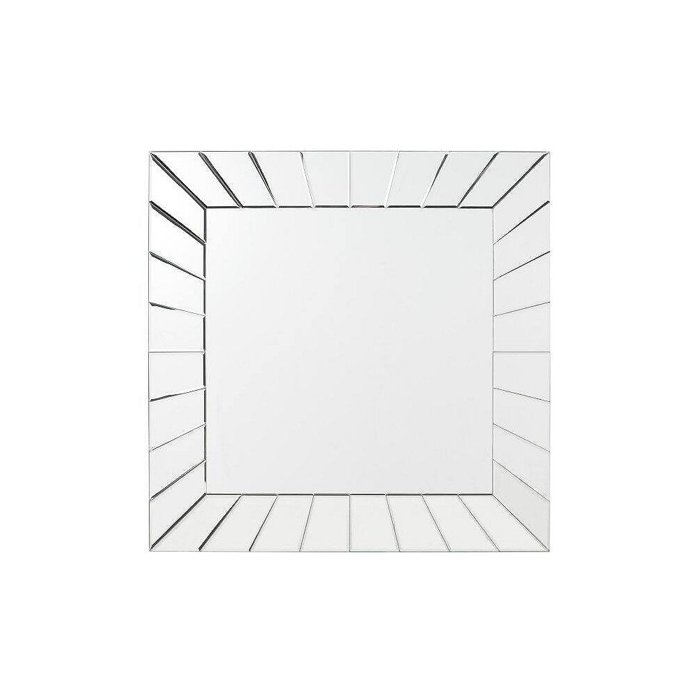 Decor Wonderland 28-inch  x 28-inch Square Norway Modern Vanity Mirror with beveled Edge and Dual Mounting Brackets