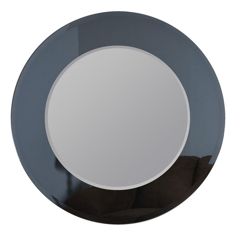 Decor Wonderland 35-inch    Round Camilla Modern Bathroom Mirror with beveled Edge