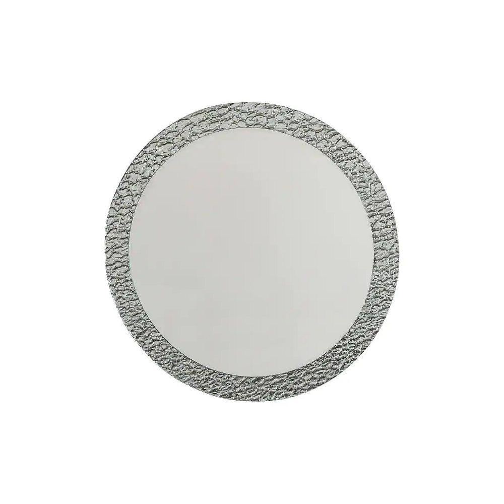 Decor Wonderland 28-inch  x 28- Round Jewel Frameless Bathroom Mirror with Polished Edge and Dual Mounting Brackets
