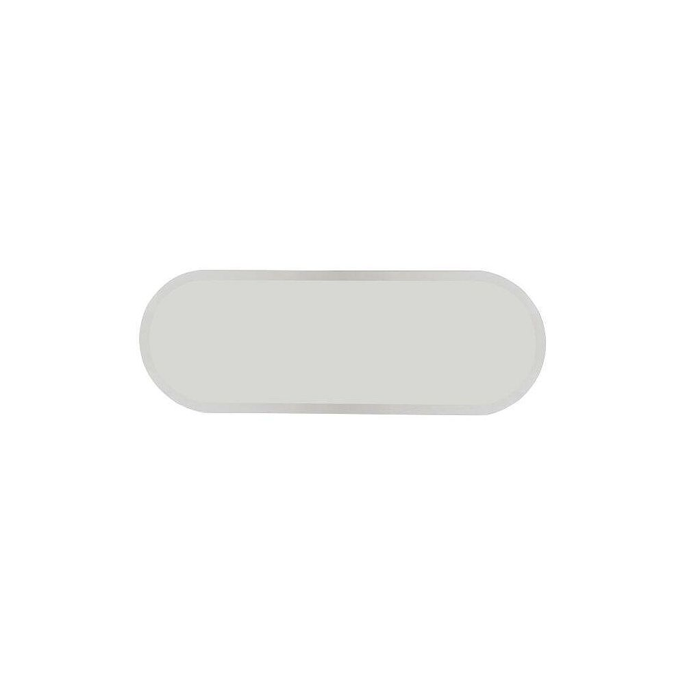 Decor Wonderland 40-inch  x 14-inch Oval Addy Long Frameless Mirror with beveled Edge and Dual Mounting Brackets