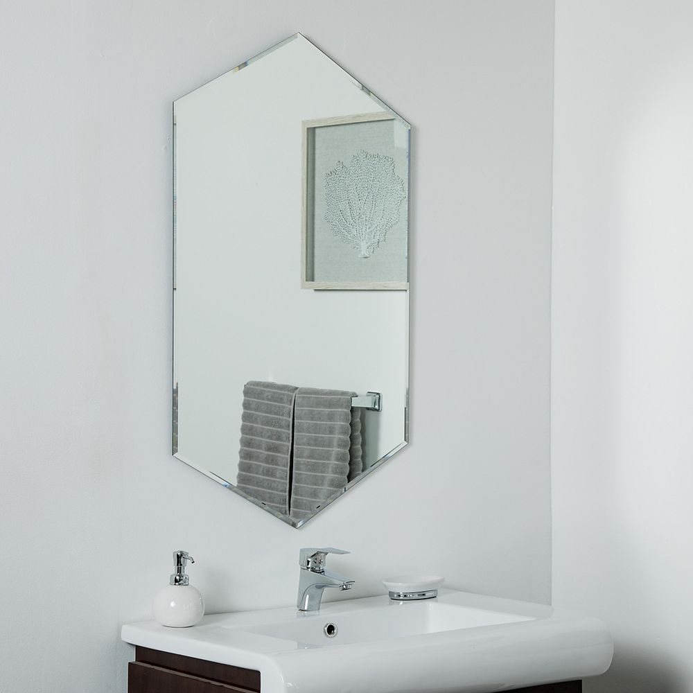 Decor Wonderland 40-inch  x 24-inch Decorative Rectangle Gal Wall Mirror  beveled Edge and Dual Mounting Brackets