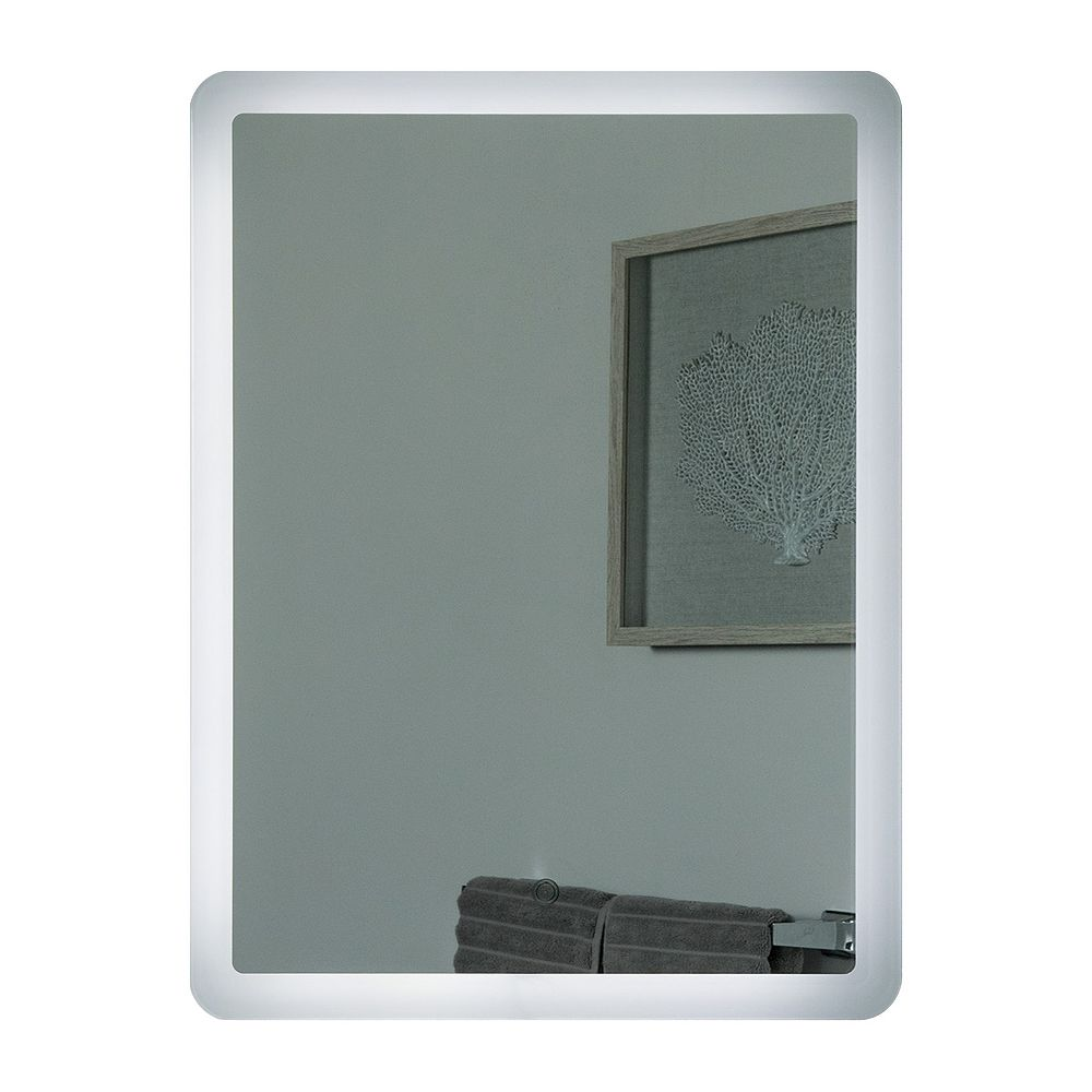 Decor Wonderland 32-inch  x 24-inch Rectangle Dynaris Backlit Touch ON/OFF LED Mirror with Dual Mounting Brackets