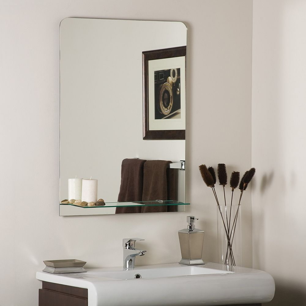 Decor Wonderland 32-inch  x 24-inch Rectangle Columbus Frameless Wall Mirror with Polished Edge