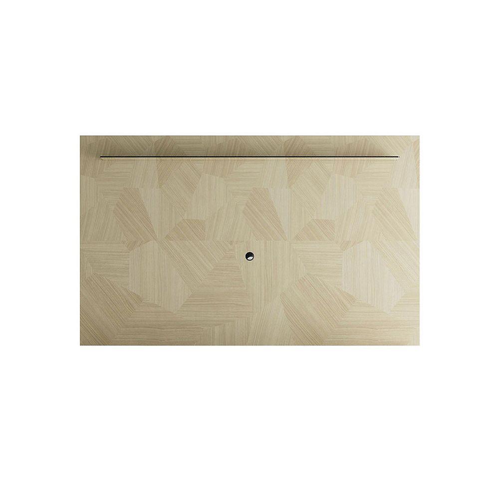 Manhattan Comfort Celine 85.43 TV Panel in Nude Mosaic Wood