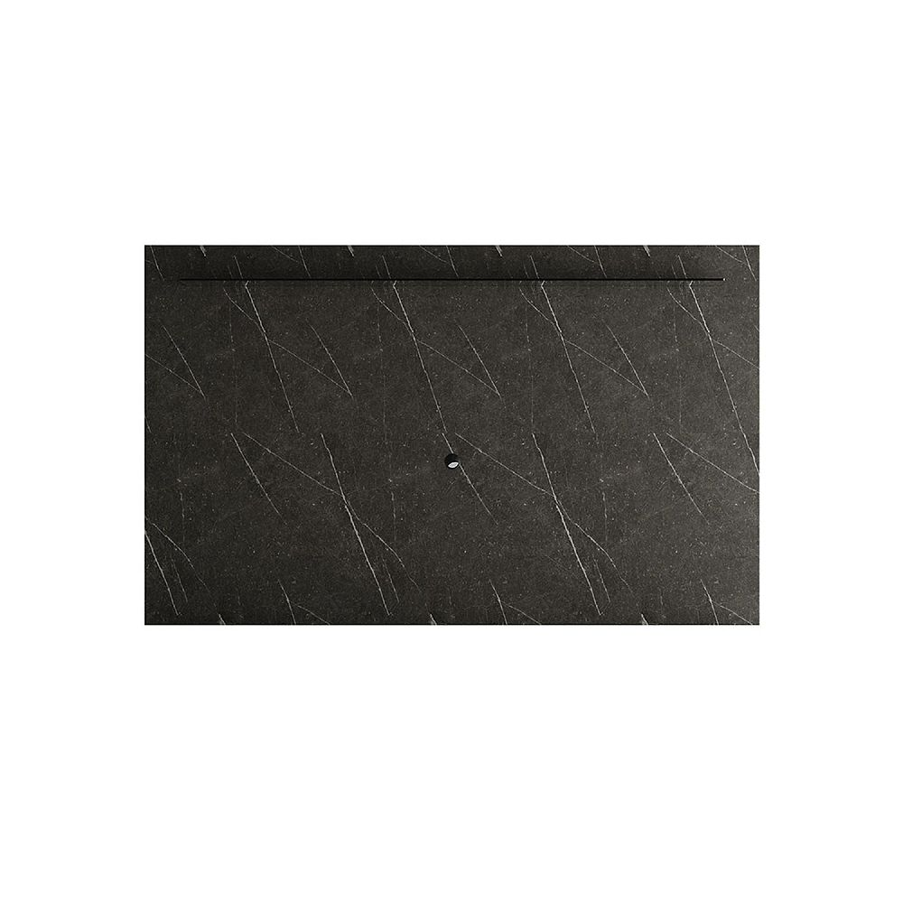 Manhattan Comfort Celine 85.43 TV Panel in Black Marble