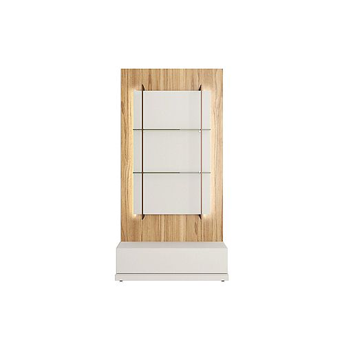 Manhattan Comfort Beaumont Wall Décor Shelves in Off White and Cinnamon