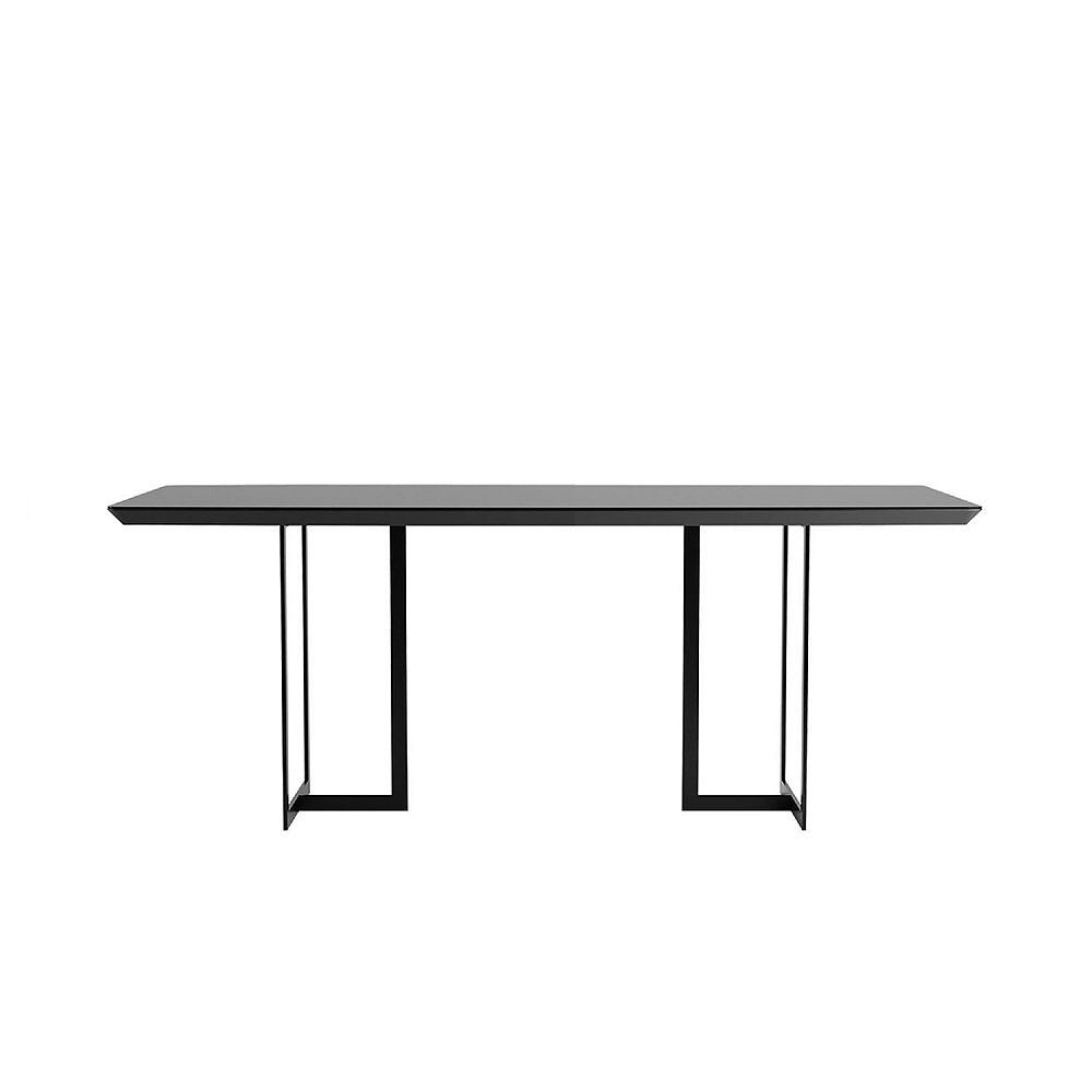 Manhattan Comfort Celine 86.22 Dining Table in Black
