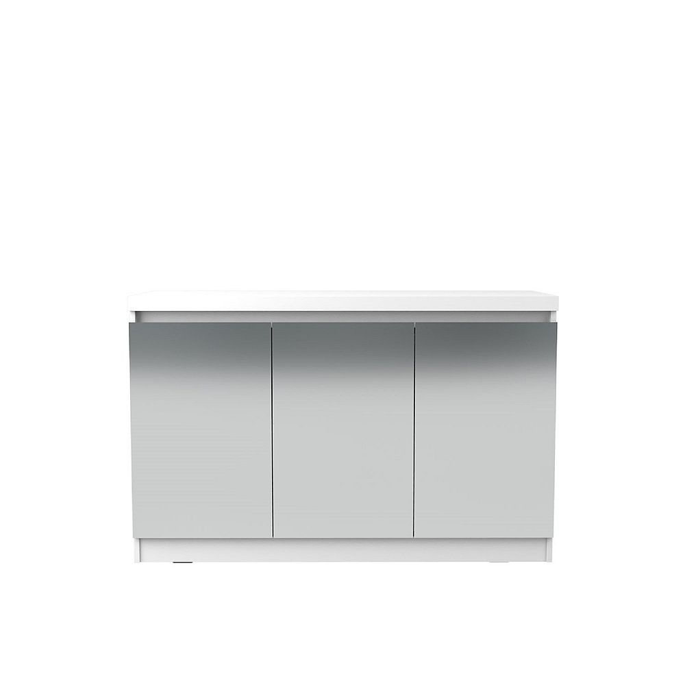 Manhattan Comfort Viennese 2.0 - 46.81 Buffet Stand with Mirrors in White Gloss