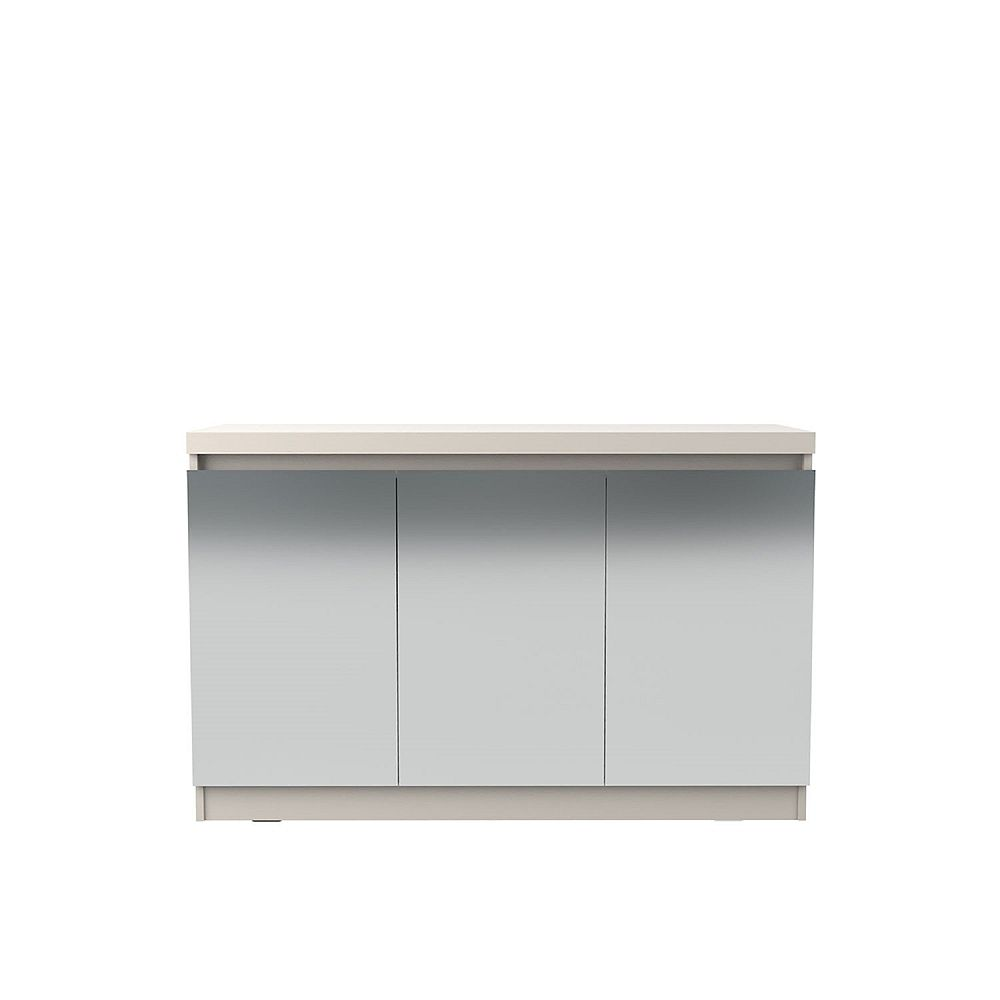 Manhattan Comfort Viennese 2.0 - 46.81 Buffet Stand with Mirrors in Off White