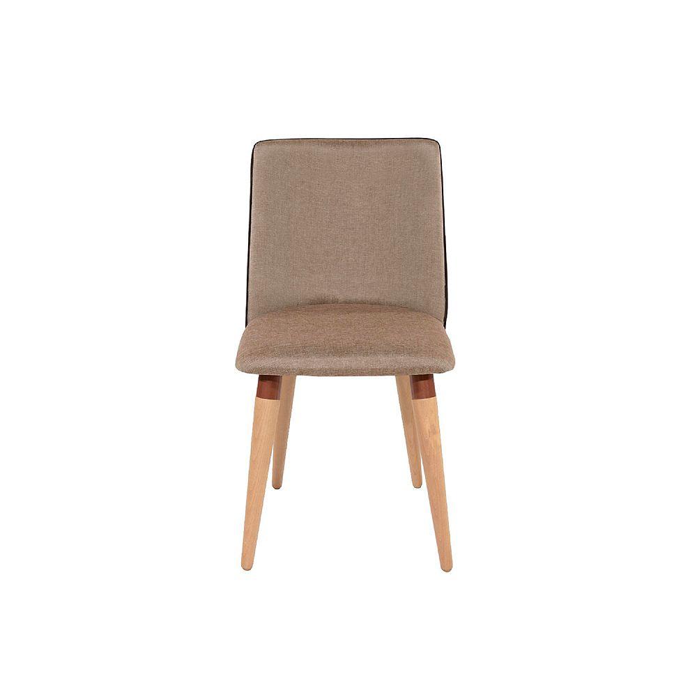 Manhattan Comfort Dakota Dining Chair in Brown