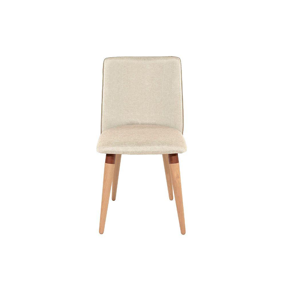 Manhattan Comfort Dakota Dining Chair in Beige