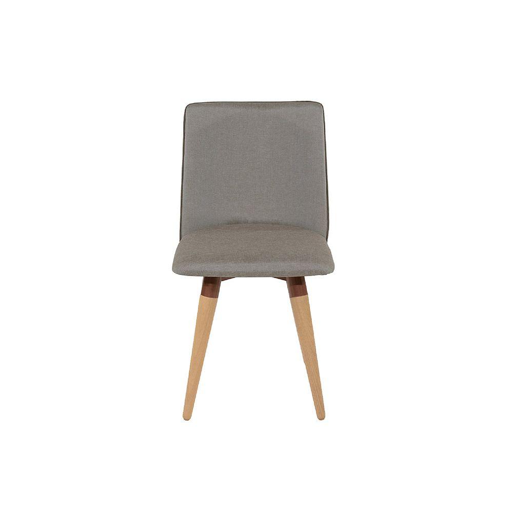 Manhattan Comfort Dakota 360 Swivel Dining Chair in Grey