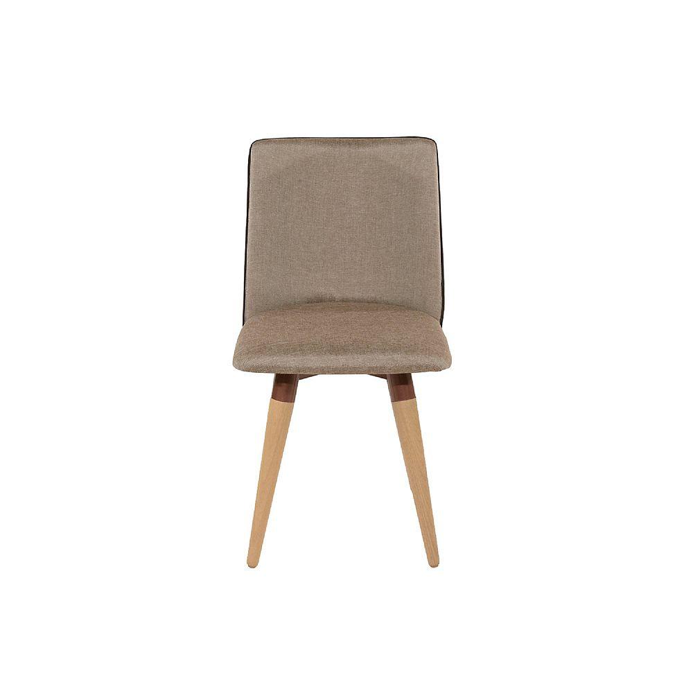 Manhattan Comfort Dakota 360 Swivel Dining Chair in Brown