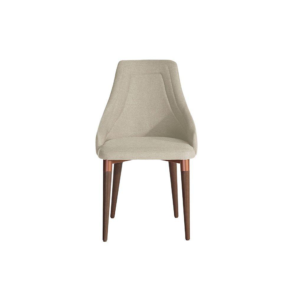 Manhattan Comfort Utopia 2.0 Dining Armchair in Beige and Copper