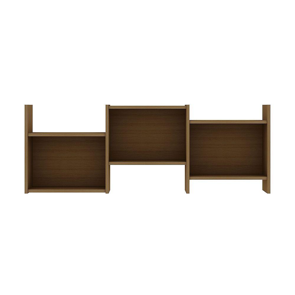 Manhattan Comfort Hampton Wall Décor Shelves in Maple Cream