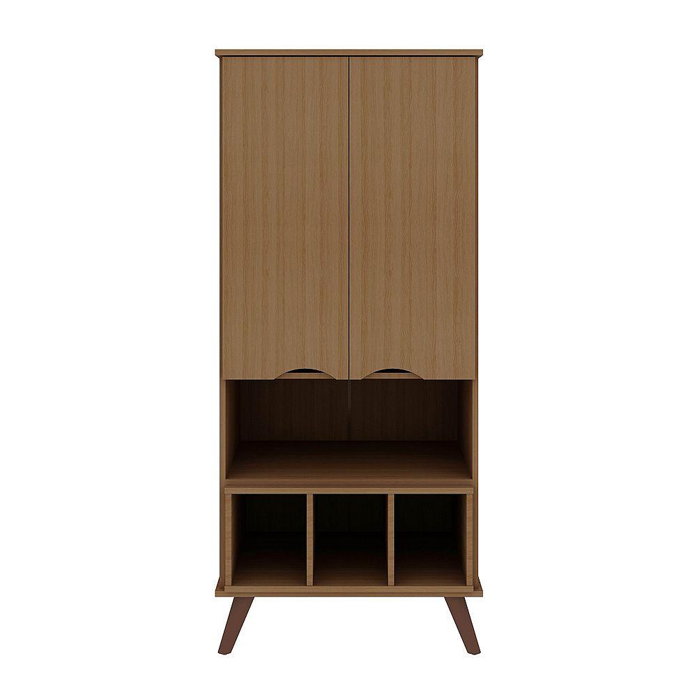 Manhattan Comfort Hampton 26.77 Display Cabinet in Maple Cream