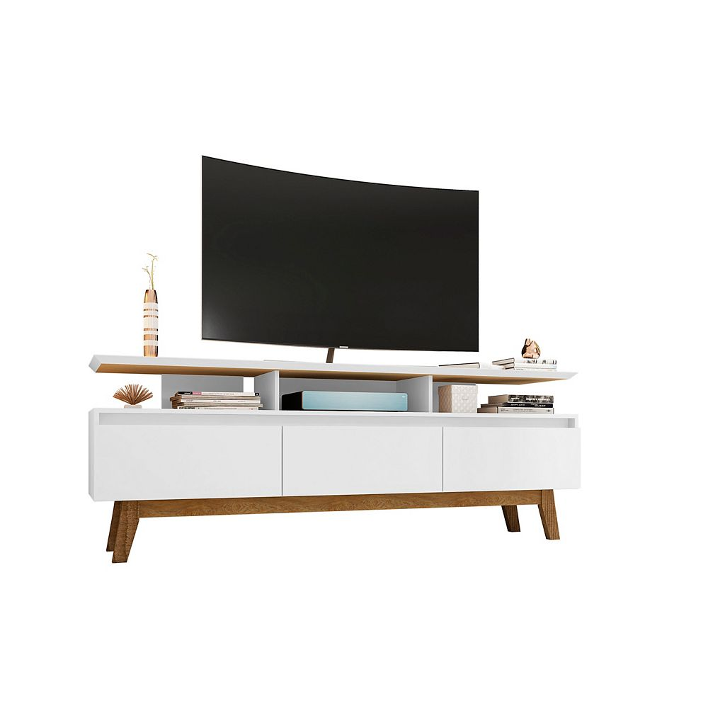 Manhattan Comfort Yonkers 70.86 TV Stand in White