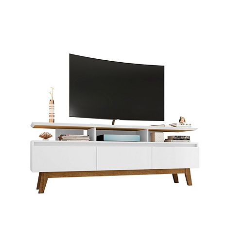 Yonkers 70.86 TV Stand in White