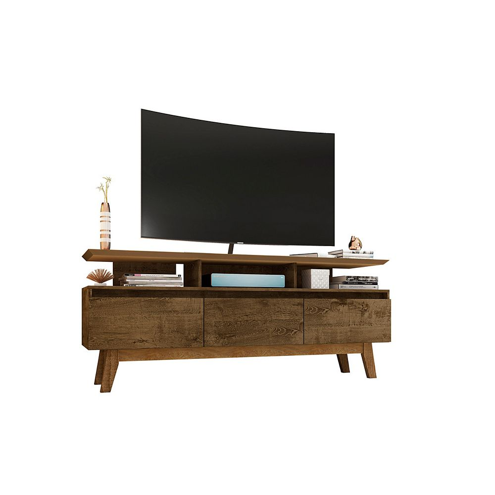 Manhattan Comfort Yonkers 62.99 TV Stand in Rustic Brown