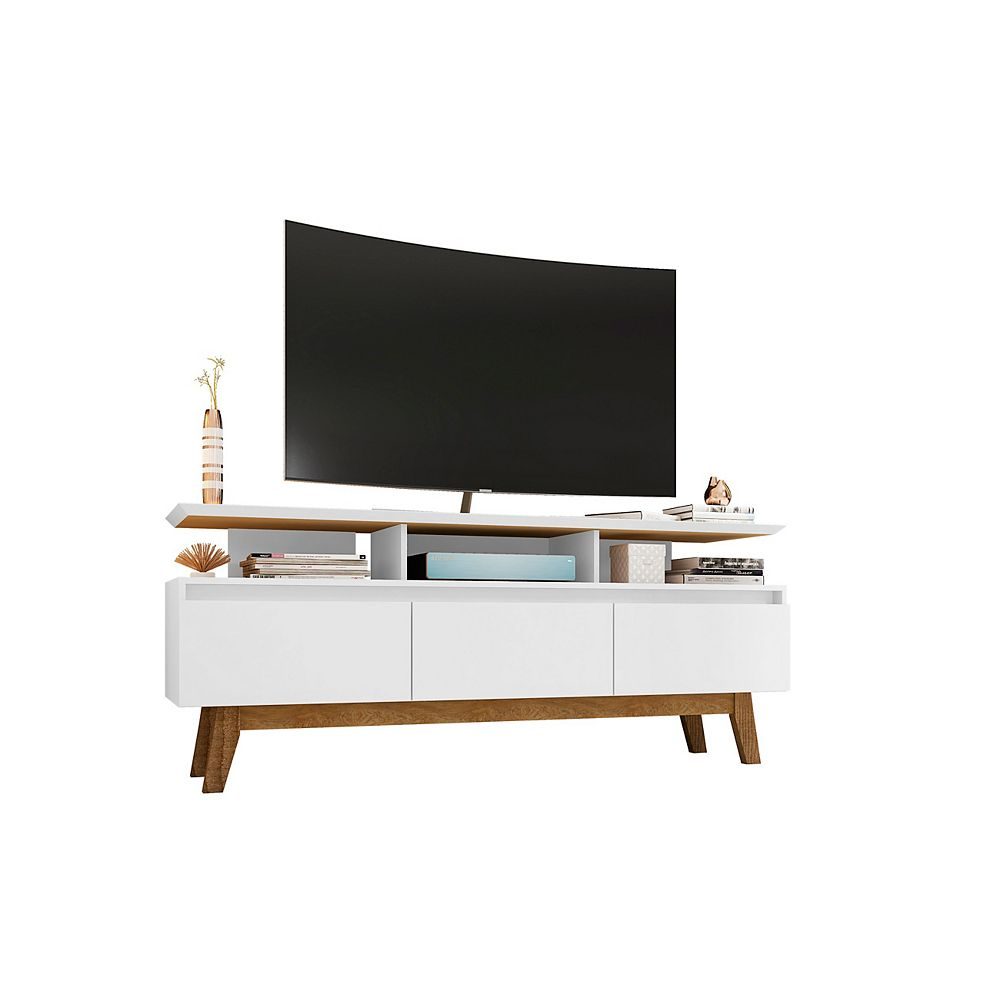 Manhattan Comfort Yonkers 62.99 TV Stand in White