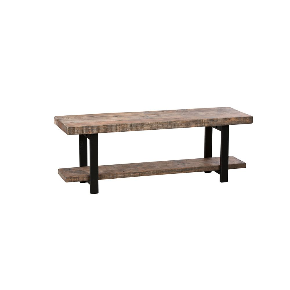 Alaterre Furniture Pomona Metal and Wood Bench