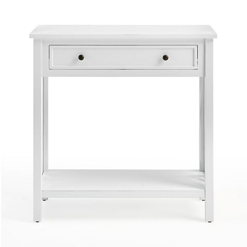 """Coventry 32"""" Wood Console Table with Drawer and Shelf"""