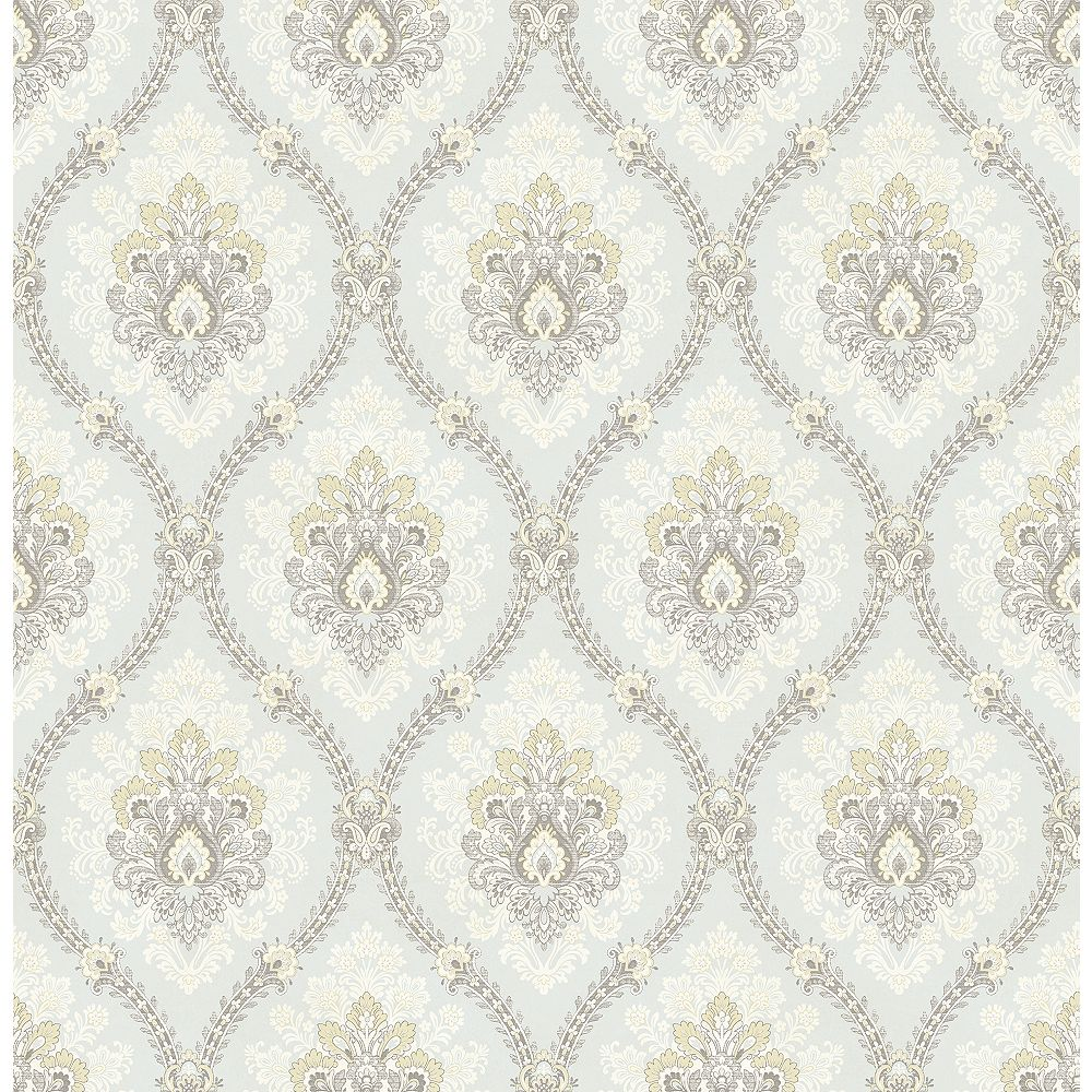 Brewster Home Fashions Heyer Ivory Ogee Wallpaper