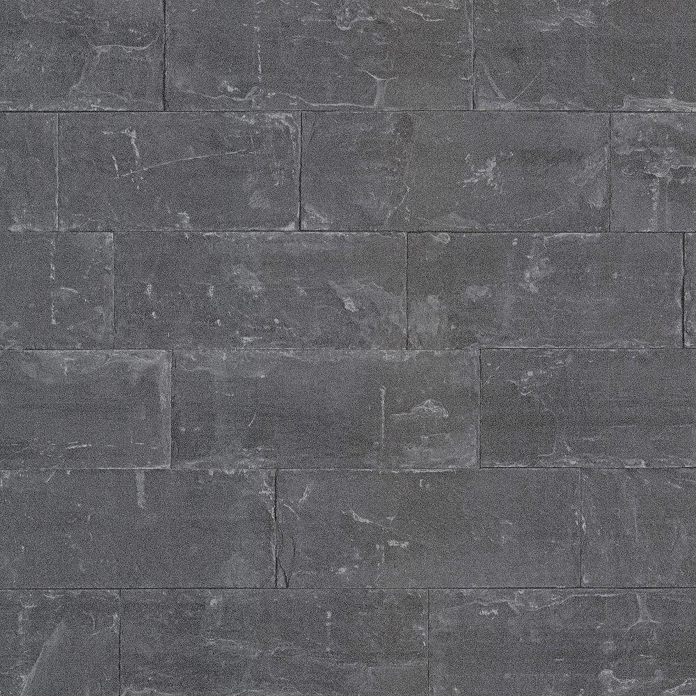 Advantage Sacramento Black Seamless Slate Wallpaper