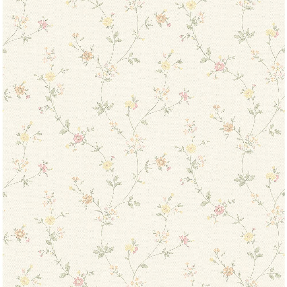 Advantage Sameulsson Eggshell Small Floral Trail Wallpaper