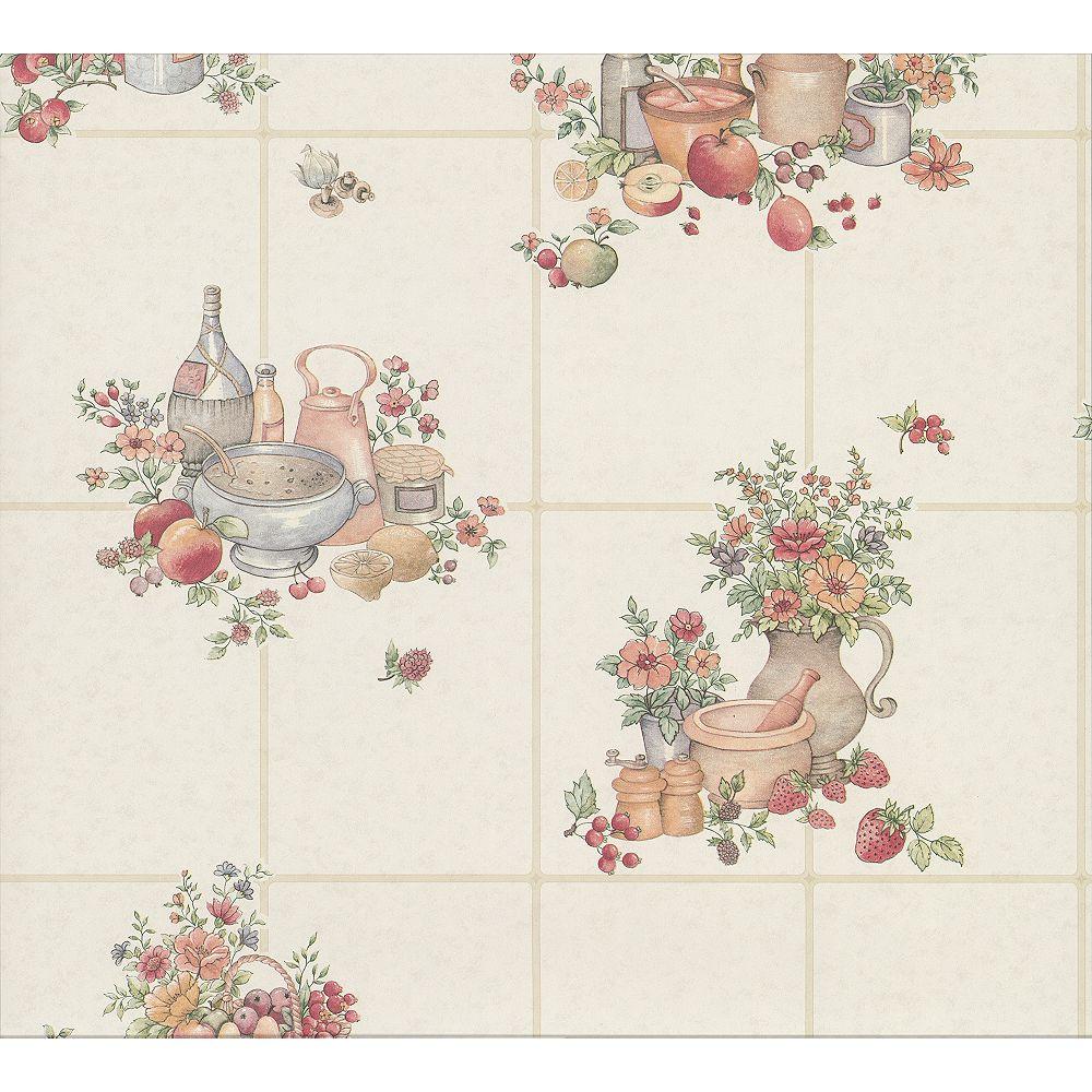 Advantage Giada Multicolor Fruit Basket Tile Wallpaper