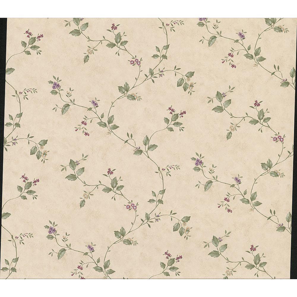 Advantage Ree Beige Mini Floral Trail Wallpaper