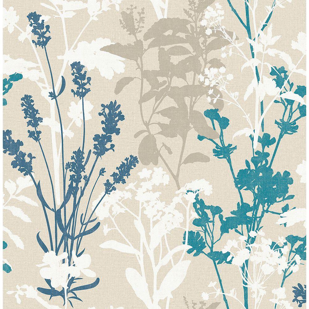 Advantage Pippin Blue Wild Flowers Wallpaper