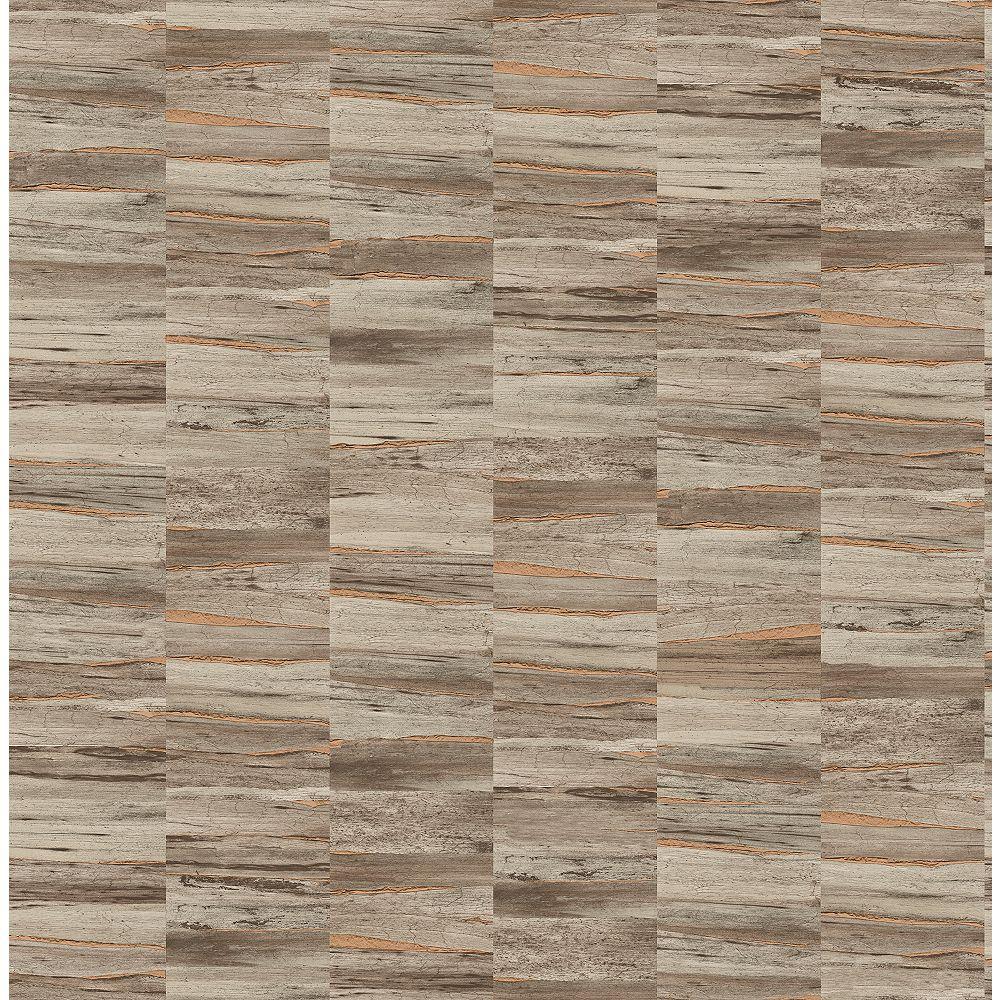 Fine Decor Hugo Brown Faux Wood Wallpaper