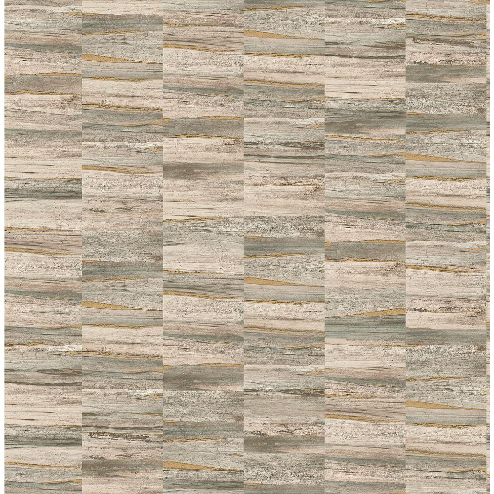 Fine Decor Hugo Neutral Faux Wood Wallpaper