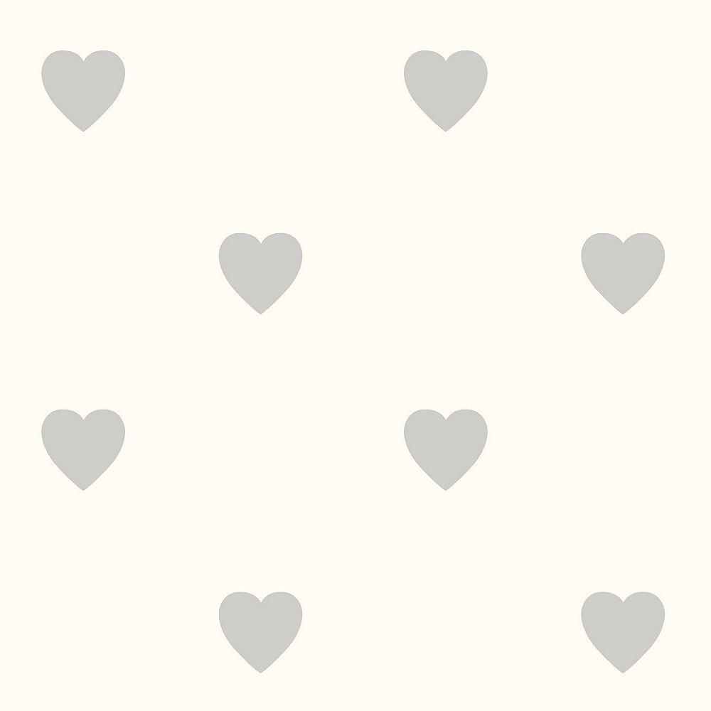 Fine Decor Adley Off-White Hearts Wallpaper