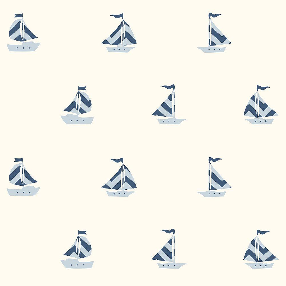Fine Decor Pearl Off-White Boat Wallpaper