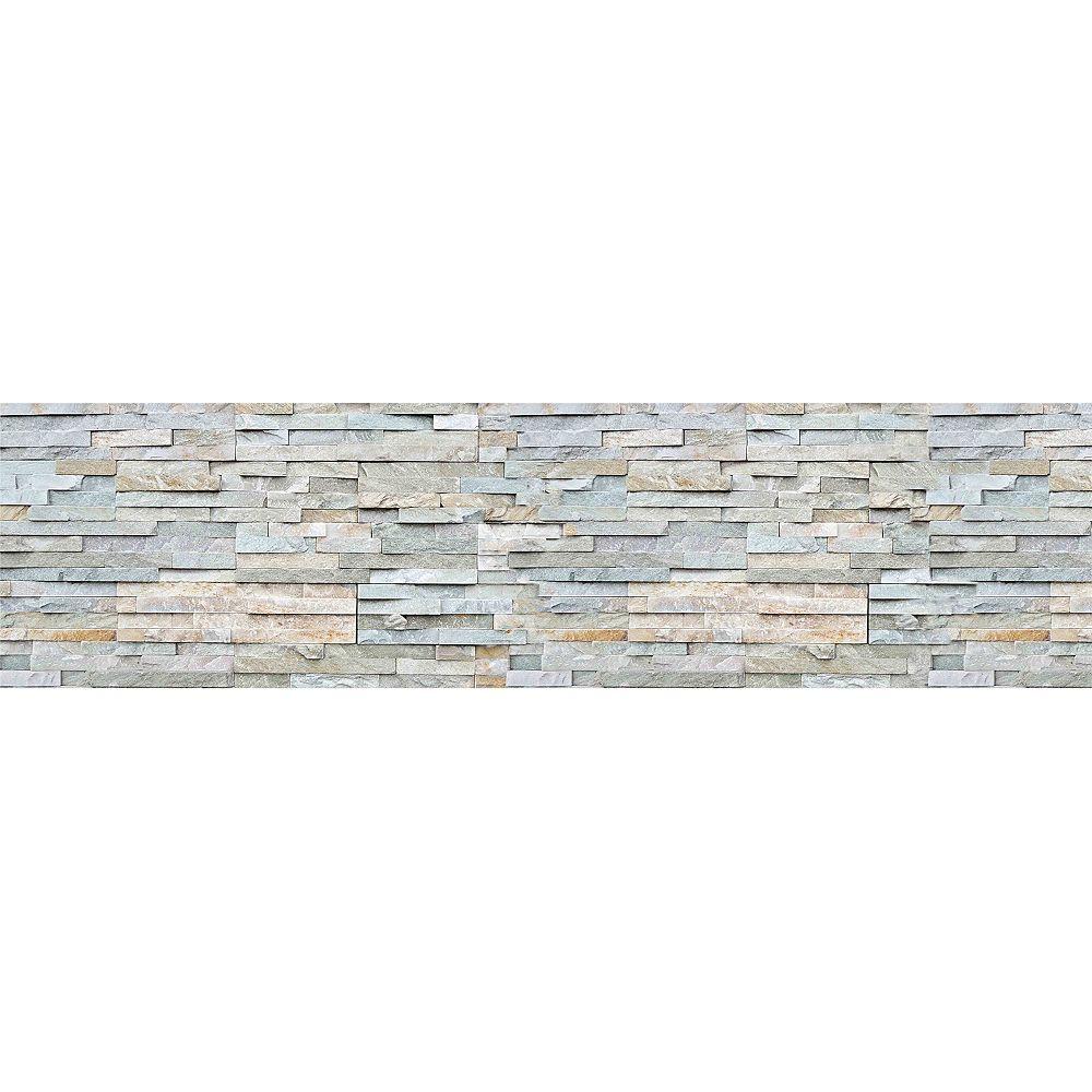Home Decor Line Grey Stones Backsplash