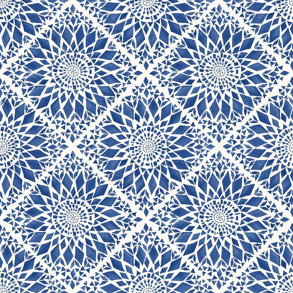 ESTA Home Maureen Blue Medallion Wallpaper