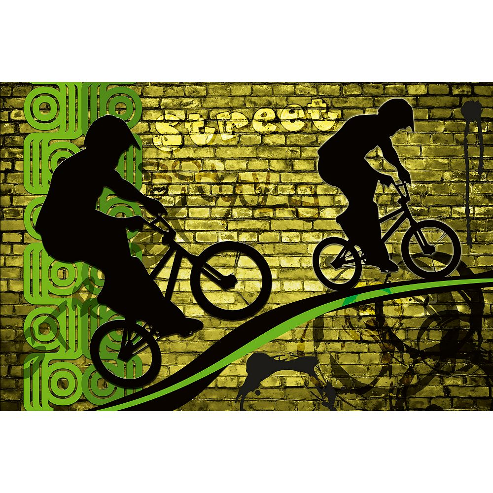 Dimex Bicycle Green Wall Mural