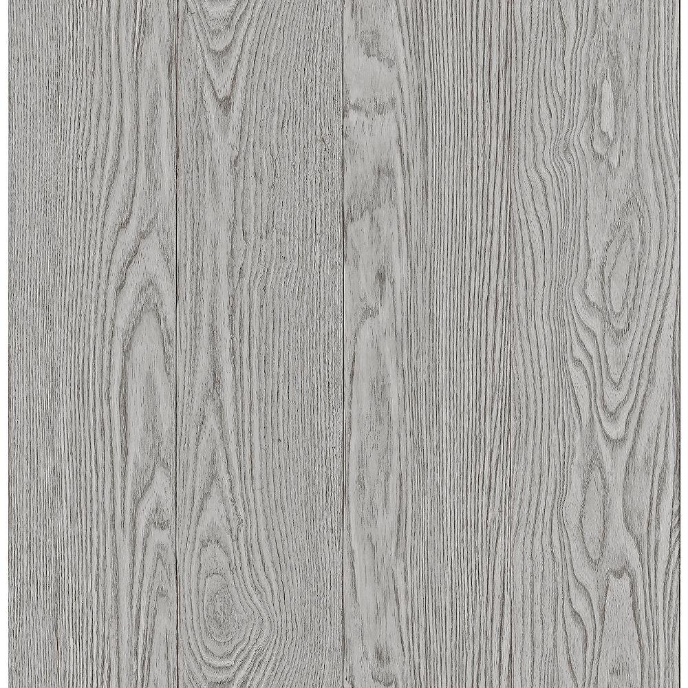 InHome Timber Grey Peel & Stick Wallpaper