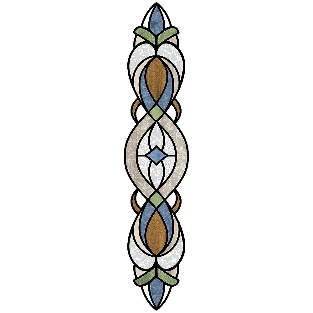 InHome Blue Bristol Stained Glass Decal Set of 2