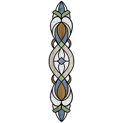 Blue Bristol Stained Glass Decal Set of 2