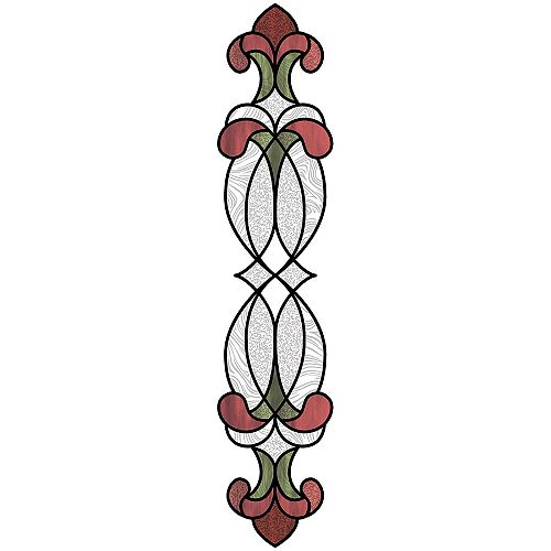 Red Hanover Stained Glass Decal Set of 2