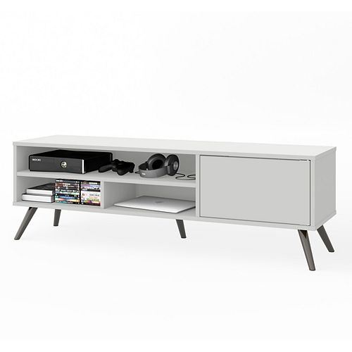 Small Space Krom 53.5-inch TV Stand in White